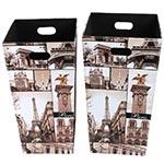 Conjunto de Porta Objetos/Guarda Chuva Fotos Paris Fullway - 58x31 cm