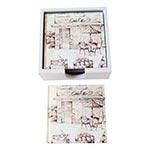 Porta-Copos Bar e Café Branco - 6 Peças - em Vidro - 9x9 cm