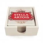 Porta-Copos Cerveja Stella Artois - 6 Peças - em Vidro - 9x9 cm