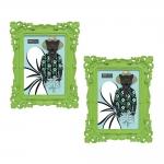 Conjunto Porta-Retratos - 2 Peças 13x18 cm - Pop Deco Verde