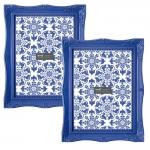 Conjunto de Porta-Retratos Frame - 2 Peças - Azul Royal
