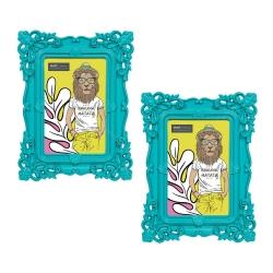 Conjunto Porta-Retratos - 2 Peças - 10x15 cm - Pop Deco Azul