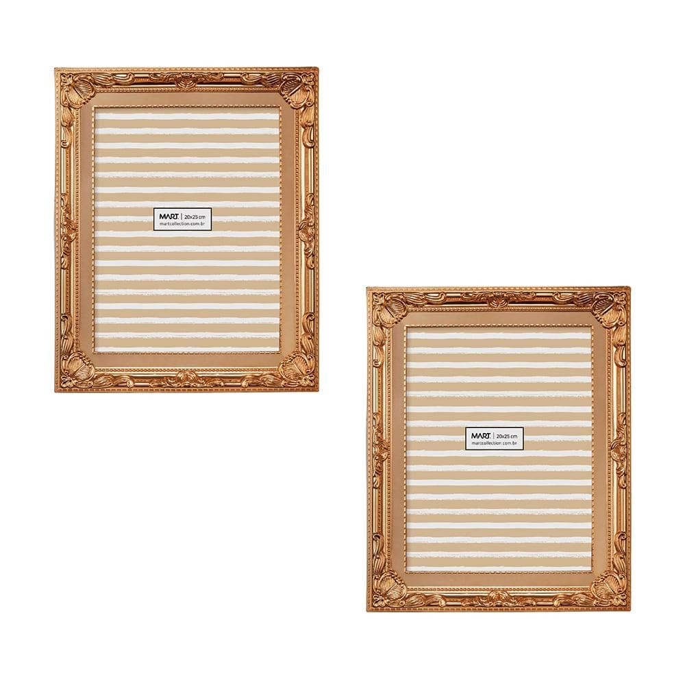 Conjunto de Porta-Retratos Cobre - Foto 10x15 cm - 19,5x14,5 cm
