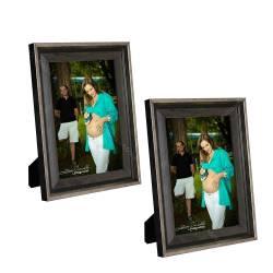 4537bfa0fd786 Conjunto de Porta-Retratos Thin Cinza com Cobre - 2 Peças