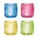 Conjunto Porta-Velas - 4 Peças - Soft Multicoloridos