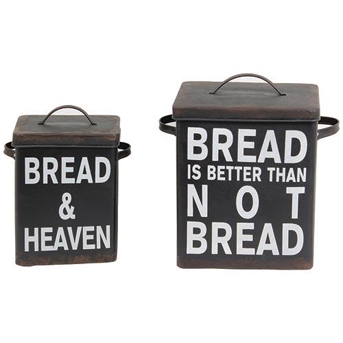 Conjunto de Potes Quadrados Black Bread Oldway - 32x20 cm