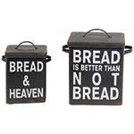 Conjunto de Potes Quadrados Black Bread Oldway