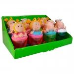 Conjunto Potinhos Mini Luluzinhas - 12 Peças - Coloridas em Resina - 22x14 cm