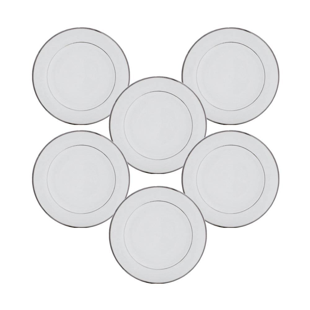 Conjunto Pratos de Jantar Simple - 6 Peças - em Porcelana - Wolff