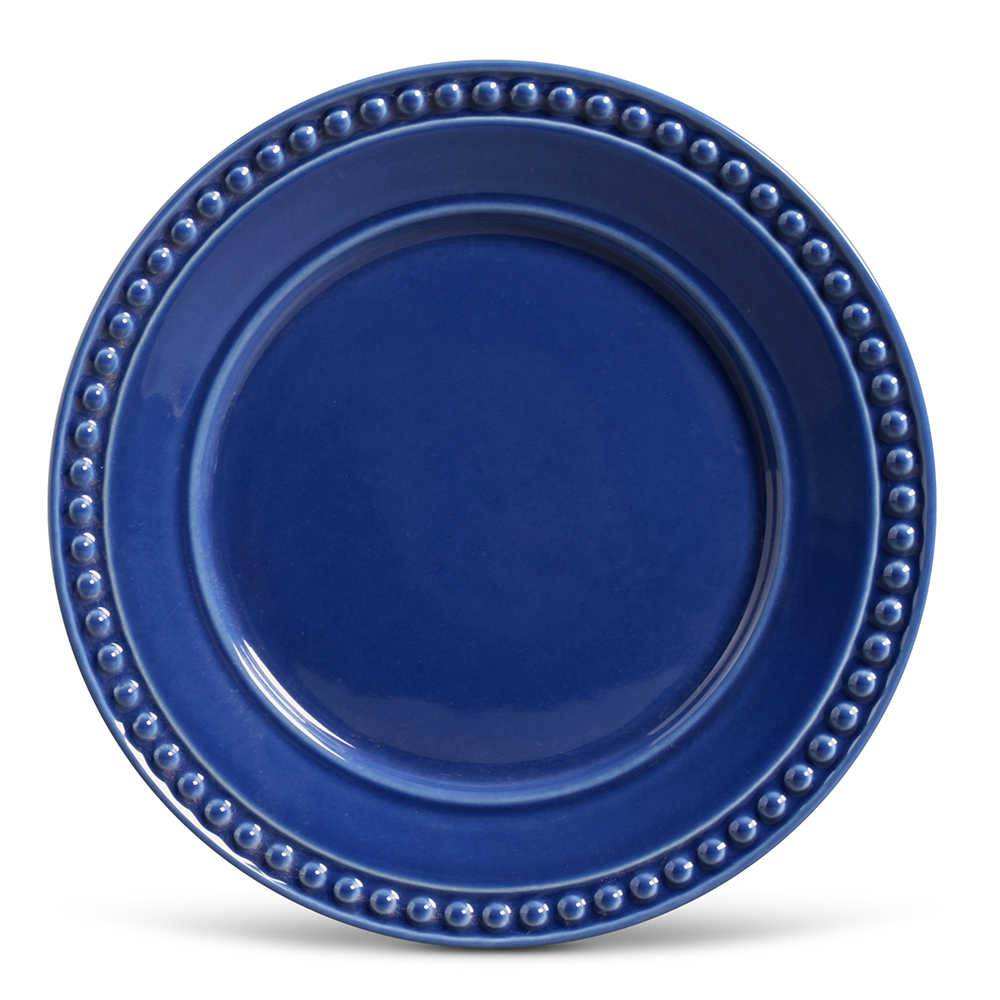 Conjunto de Pratos Rasos Atenas Azul Navy - 6 Peças - em Cerâmica - La Tavola - Porto Brasil - 26,5x2,8 cm