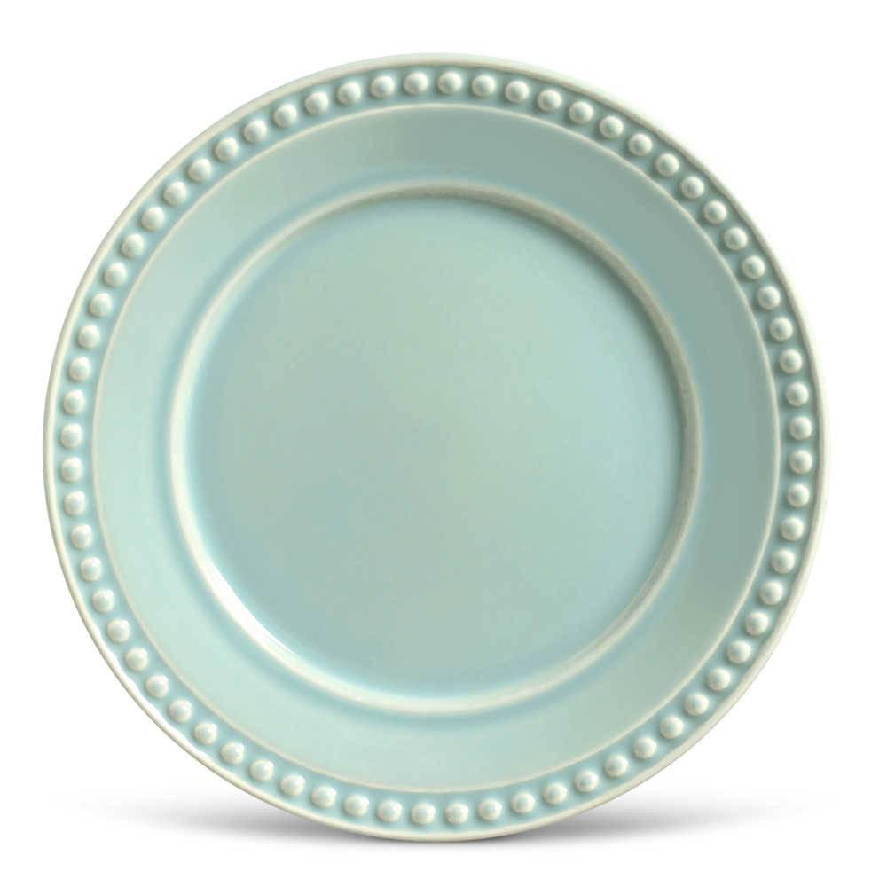 Conjunto de Pratos Rasos Atenas Verde - 6 Peças - em Cerâmica - La Tavola - Porto Brasil - 26,5x2,8 cm