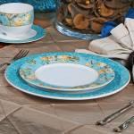 Conjunto Pratos Rasos Flat Elegance - 6 Peças - em Cerâmica - Porto Brasil - 27x2,5 cm