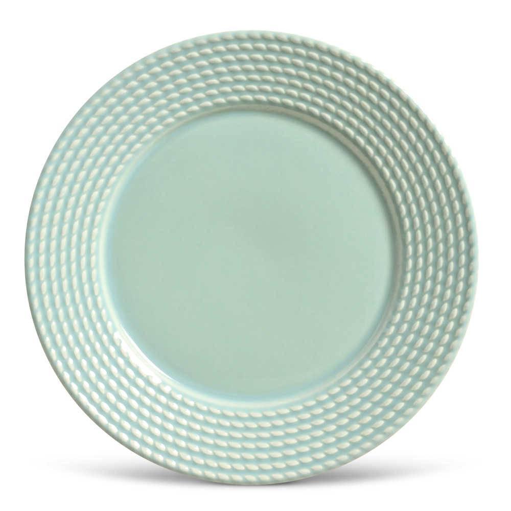 Conjunto de Pratos Rasos Olimpia Verde - 6 Peças - em Cerâmica - La Tavola - Porto Brasil - 26,5x2,8 cm
