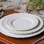 Conjunto Pratos Rasos Peniche Branco - 6 Peças - em Cerâmica - Porto Brasil - 27x2,5 cm