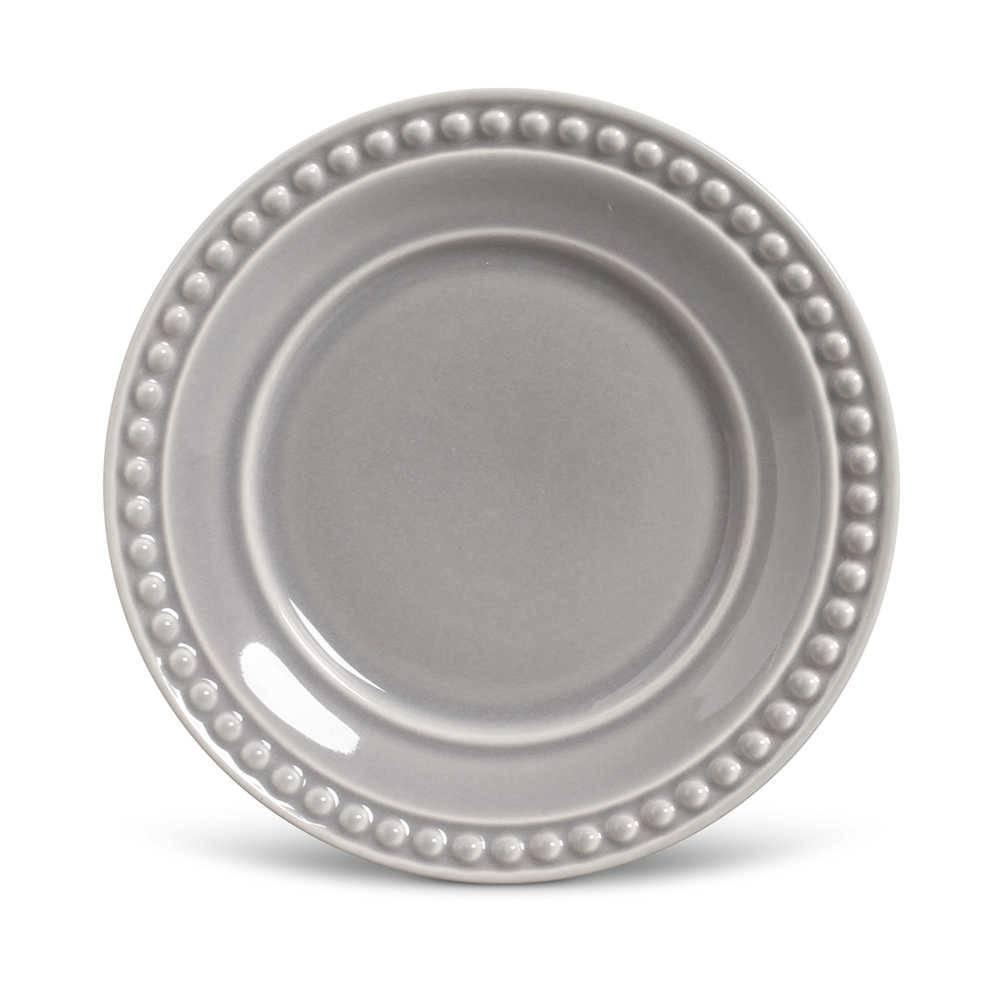 Conjunto de Pratos para Sobremesa Atenas Cinza Claro - 6 Peças - em Cerâmica - La Tavola - Porto Brasil - 20,5x2,7 cm