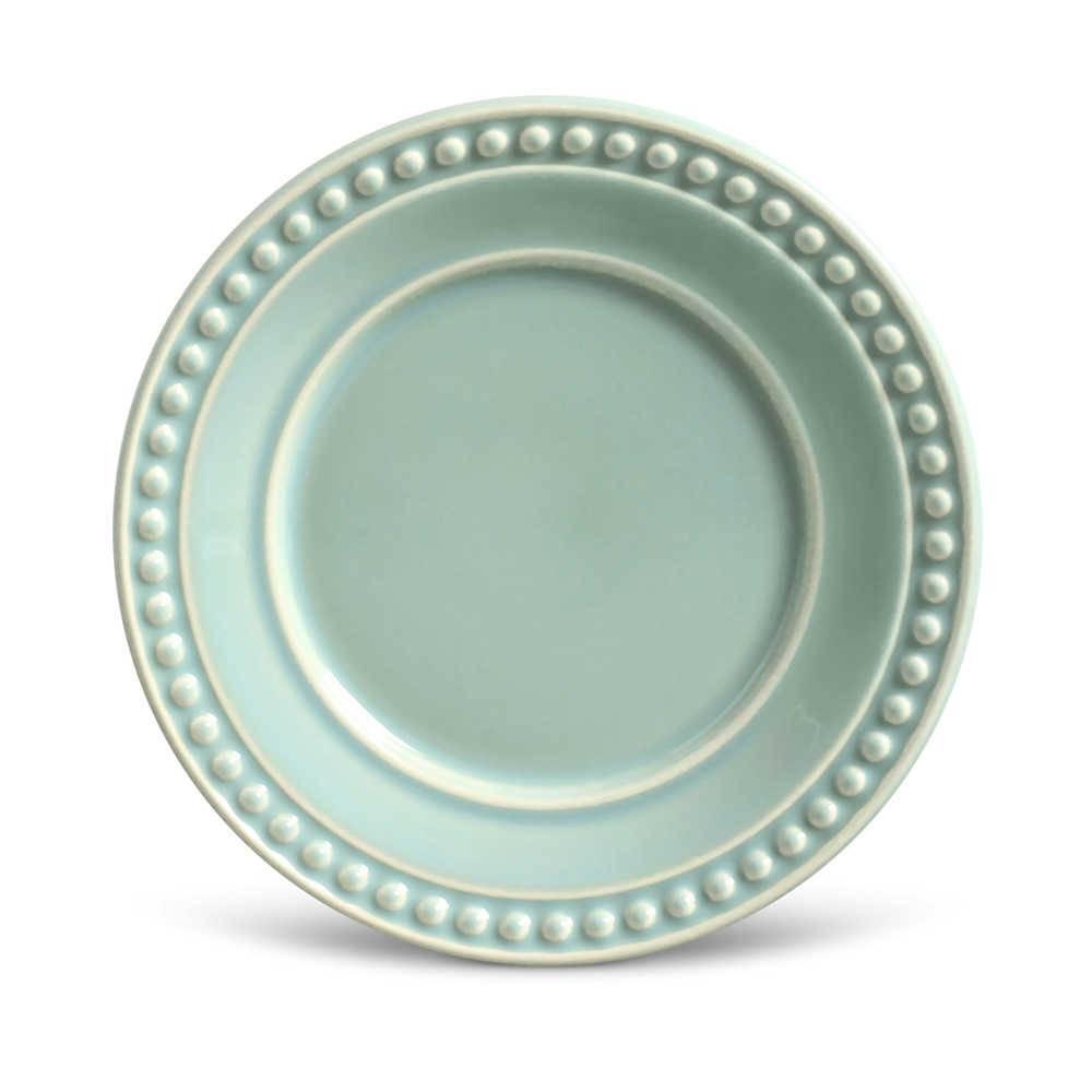 Conjunto de Pratos para Sobremesa Atenas Verde - 6 Peças - em Cerâmica - La Tavola - Porto Brasil - 20,5x2,7 cm