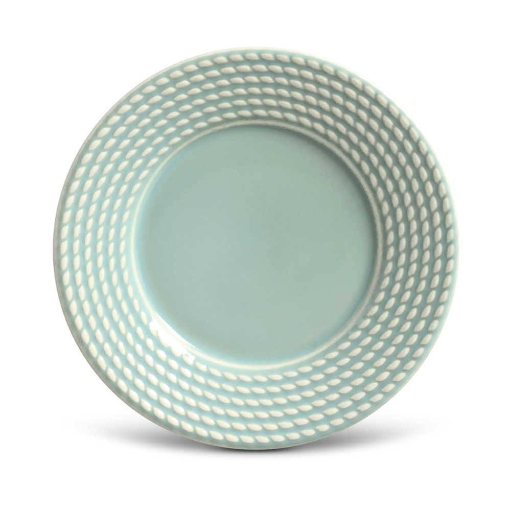 Conjunto de Pratos para Sobremesa Olimpia Verde - 6 Peças - em Cerâmica - La Tavola - Porto Brasil - 20,5x2,7 cm