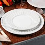 Conjunto Pratos para Sobremesa Parthenon Branco - 6 Peças - em Cerâmica - Ravenna - Porto Brasil - 20,5x20,5 cm