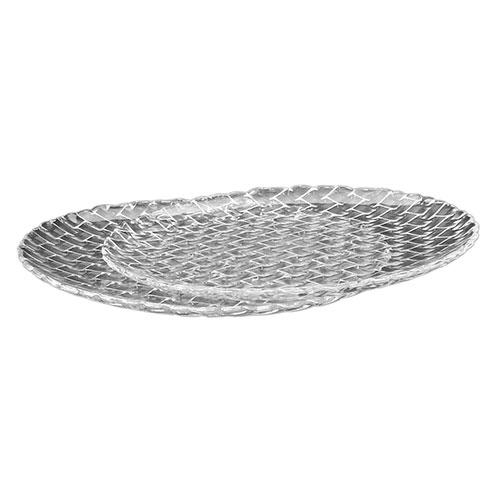Conjunto de Pratos Treli - 2 Peças - em Vidro - 32x2 cm
