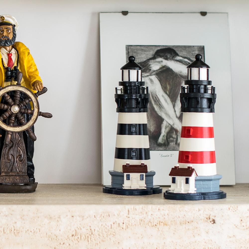 Conjunto Réplicas de Faróis Médios em Madeira - 30x15 cm