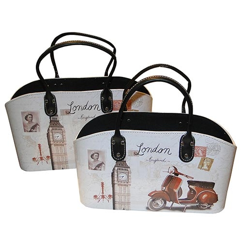 Conjunto Revisteiro London Fullway - 38x23 cm349