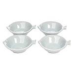 Conjunto de Saladeiras Brancas Peixe em Porcelana