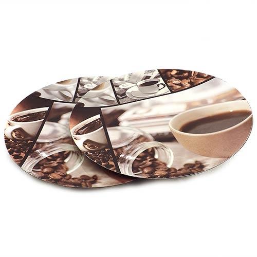 Conjunto de Sousplat Café na Xícara Fullway - 2 peças - 33cm