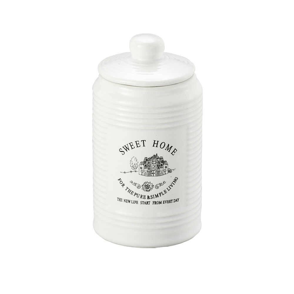 Conjunto Sweet Home c/ 3 Potes de Porcelana - Lyor Design - 11x5,8 cm
