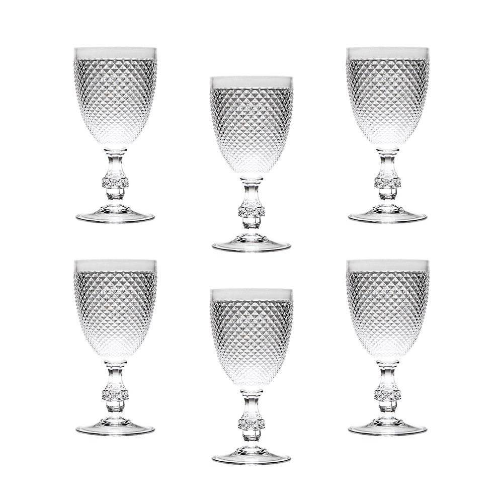 Conjunto de Taças Multiuso Transparentes - 6 Peças - 350 ml - em Acrílico - Bon Gourmet