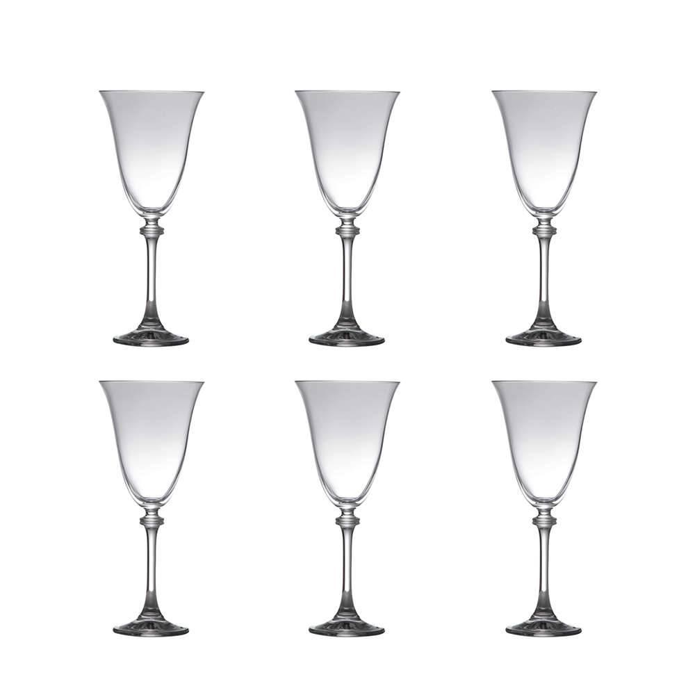 Conjunto de Taças para Água Alexandra - 6 Peças - 350 ml - em Cristal - Bohemia