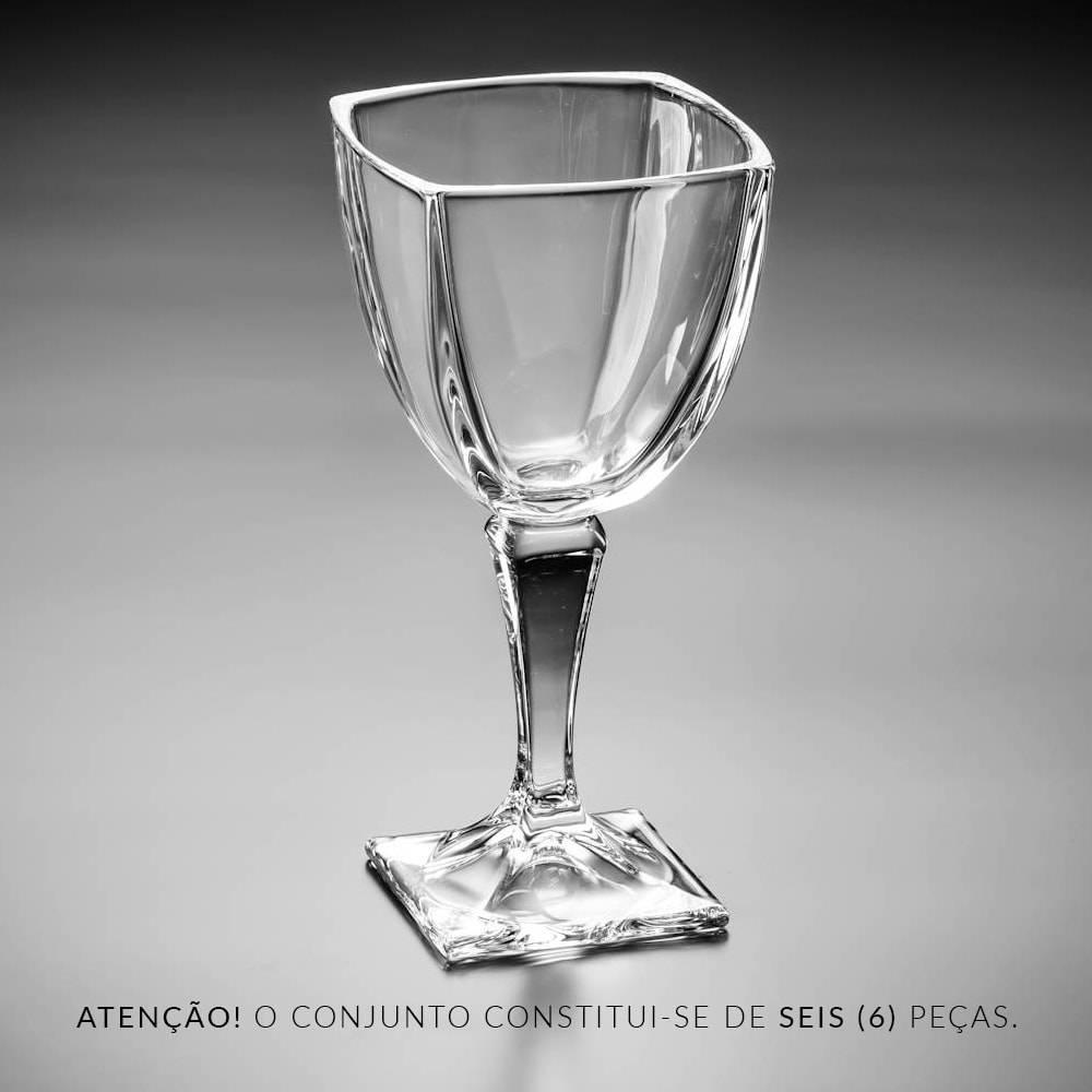 Conjunto de Taças para Vinho Arezzo - 6 Peças - 270 ml - em Cristal - Bohemia