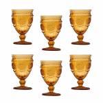 Taças para Água Aubusson Âmbar - em Vidro - Bon Gourmet