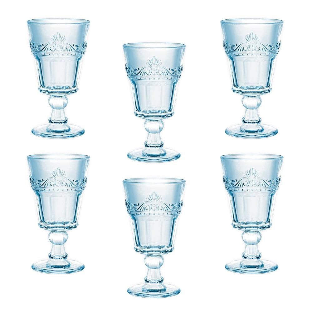 Conjunto Taças Celestina para Água - 6 Peças - em Vidro - 16x9 cm