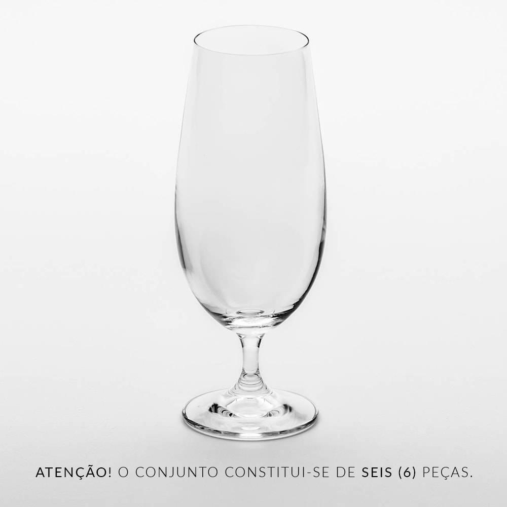 Conjunto de Taças para Cerveja Gastro - 6 Peças - 380 ml - em Cristal - Bohemia