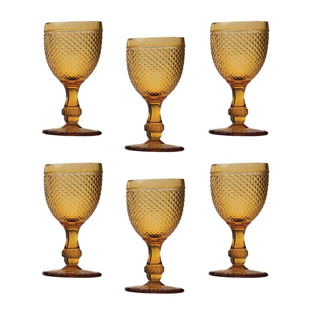 Conjunto 6 Taças para Licor Bico de Jaca em Vidro Âmbar - 33 ml - Bon Gourmet