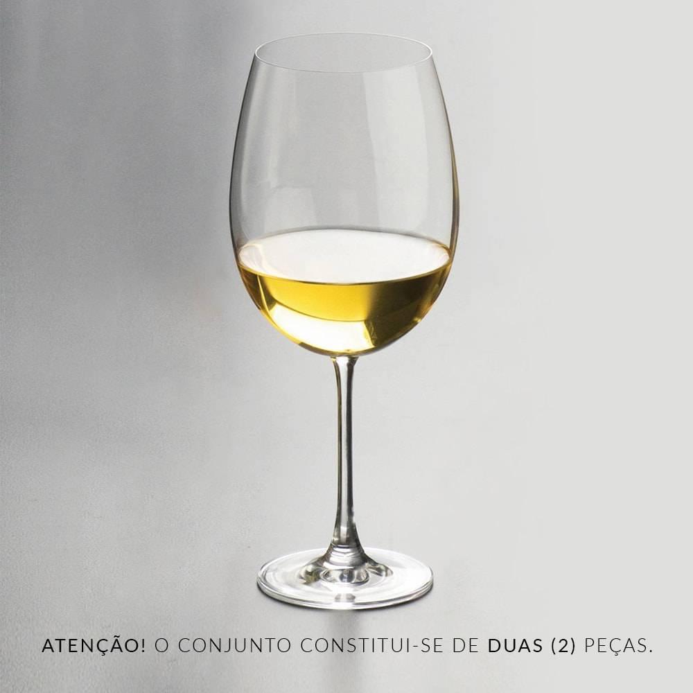 Conjunto de Taças para Vinho Tinto Magnum Bordeaux - 2 Peças - 850 ml - em Cristal - Rona