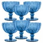 Conjunto Taças Safira p/ Sobremesa - 6 Peças - em Vidro