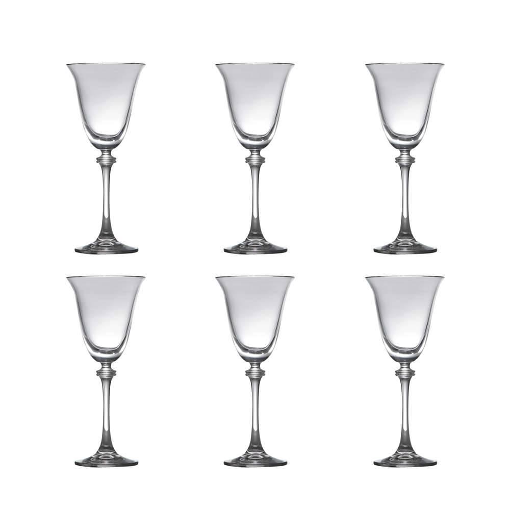 Conjunto de Taças para Vinho Branco Alexandra - 6 Peças - 185 ml - em Cristal - Bohemia