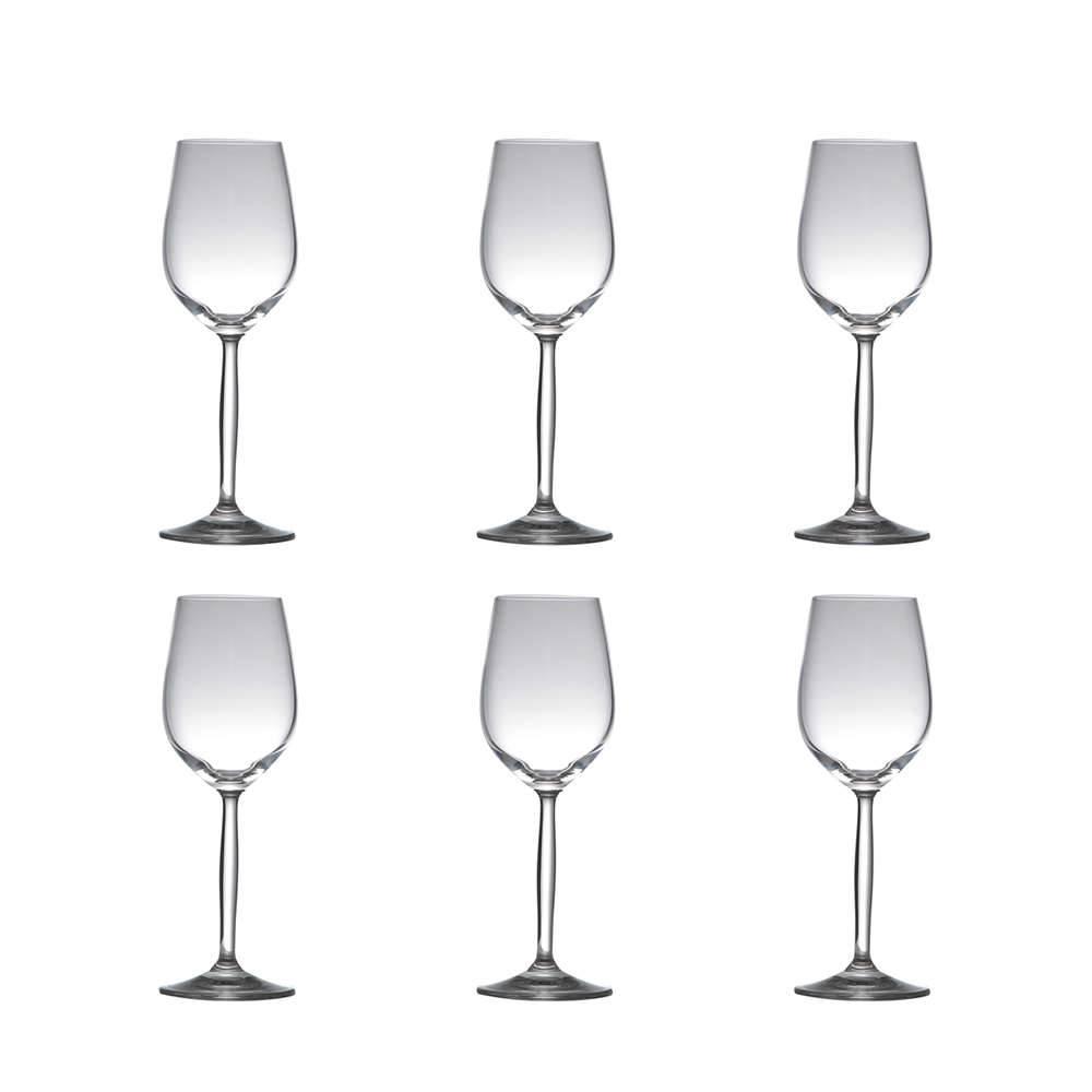 Conjunto de Taças para Vinho Branco Enjoy - 6 Peças - 260 ml - em Cristal - Rona