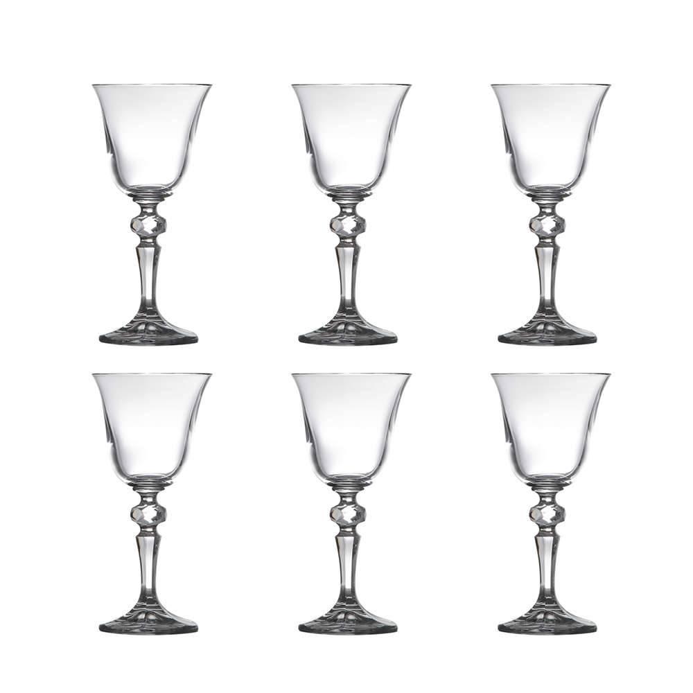 Conjunto de Taças para Vinho Branco Laura - 6 Peças - 130 ml - em Cristal - Bohemia