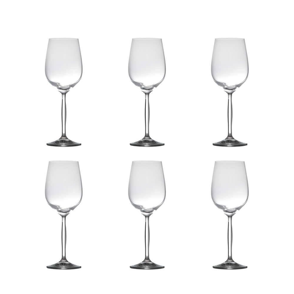 Conjunto de Taças para Vinho Tinto Enjoy - 6 Peças - 360 ml - em Cristal - Rona