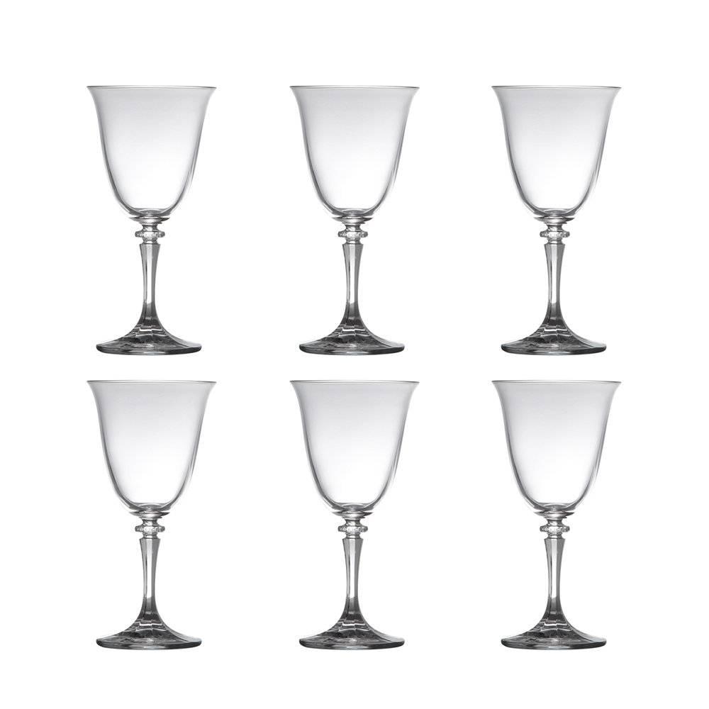 Conjunto de Taças para Vinho Tinto Kleopatra - 6 Peças - 290 ml - em Cristal - Bohemia