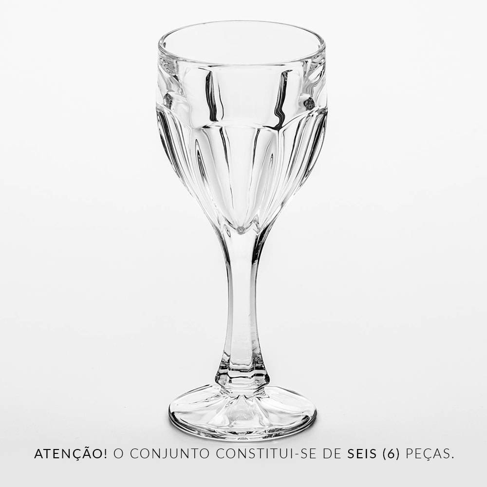 Conjunto de Taças para Vinho Tinto Safari - 6 Peças - 190 ml - Cristal - Bohemia