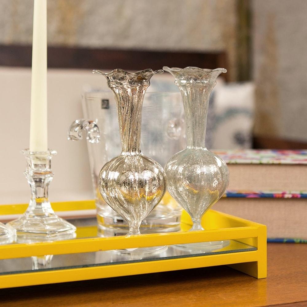 Conjunto de Vasos Elegance Duo em Vidro - 19x7 cm