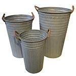 Conjunto de Vasos Frisados em Metal Greenway