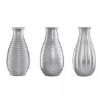 Conjunto de Vasos Rivena - 3 Peças - Prata em Vidro