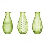 Conjunto de Vasos Rivena - 3 Peças - Verdes em Vidro