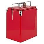 Cooler Alto Vermelho com Alça Fullway em Metal