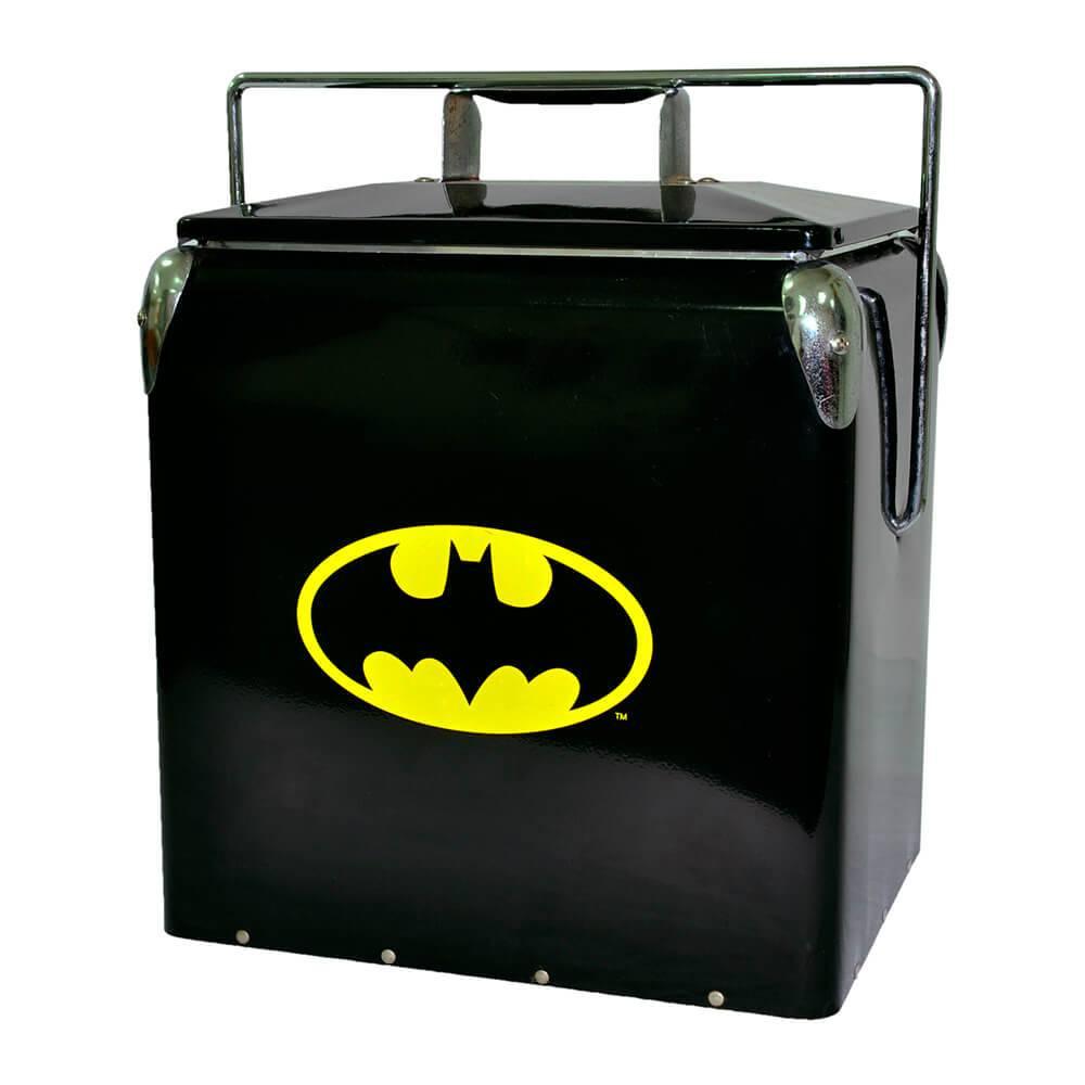 Cooler DC Comics Logo Batman Preto e Amarelo em Metal - Urban - 40,5x35,5 cm