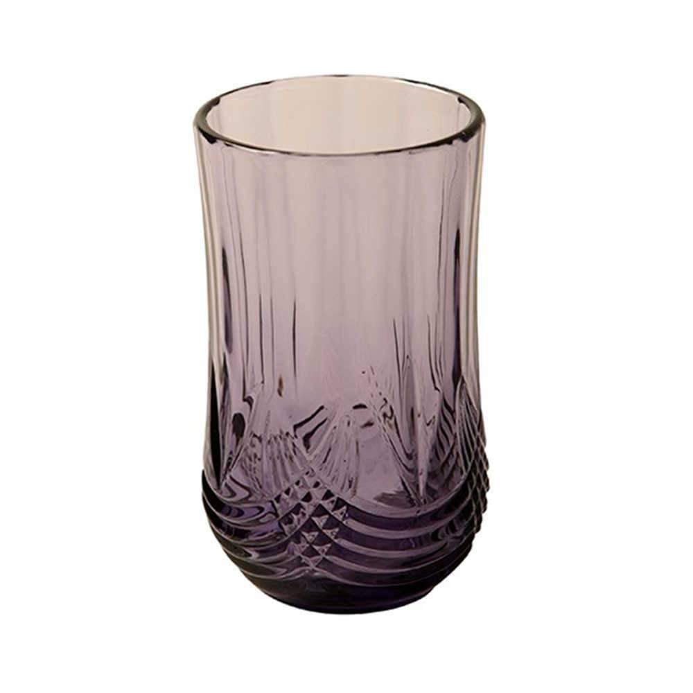 Copo Grande Delicate Roxo Degradê em Vidro Lapidado - 13x11 cm